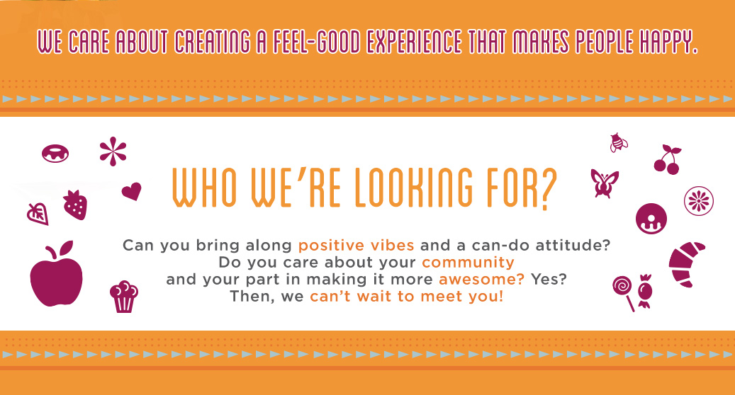 Who we're looking for.
